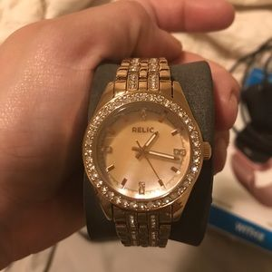 Brand new Relic rose gold women's watch